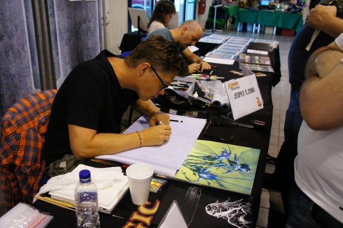 Jesper Ejsing and Jeff Miracola at work - magic gp