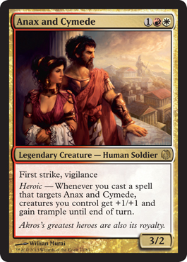 Anax and Cymede Theros mtg