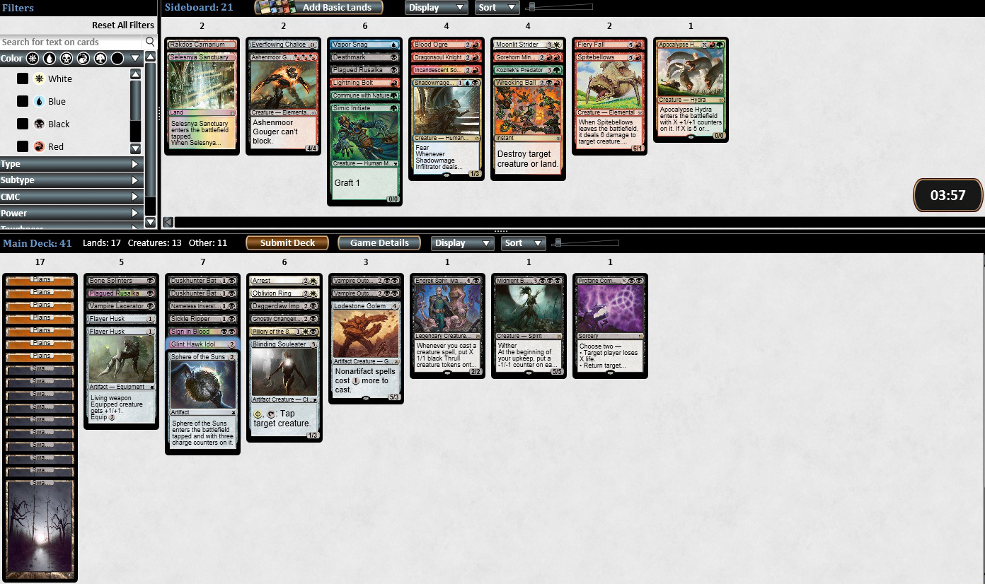 Modern Masters 2 draft WB Good Stuff