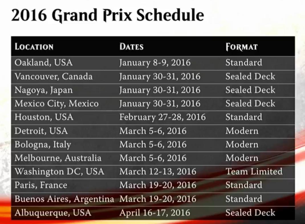 gp schedule