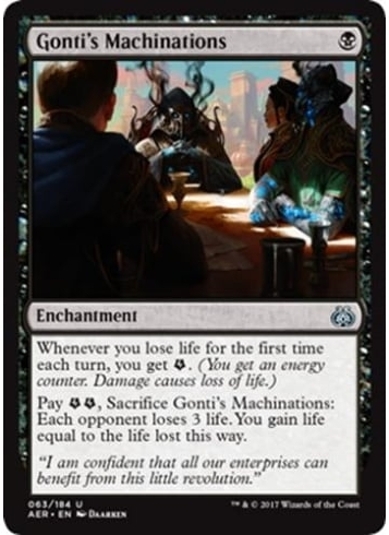 gontis machniations prerelease aether revolt