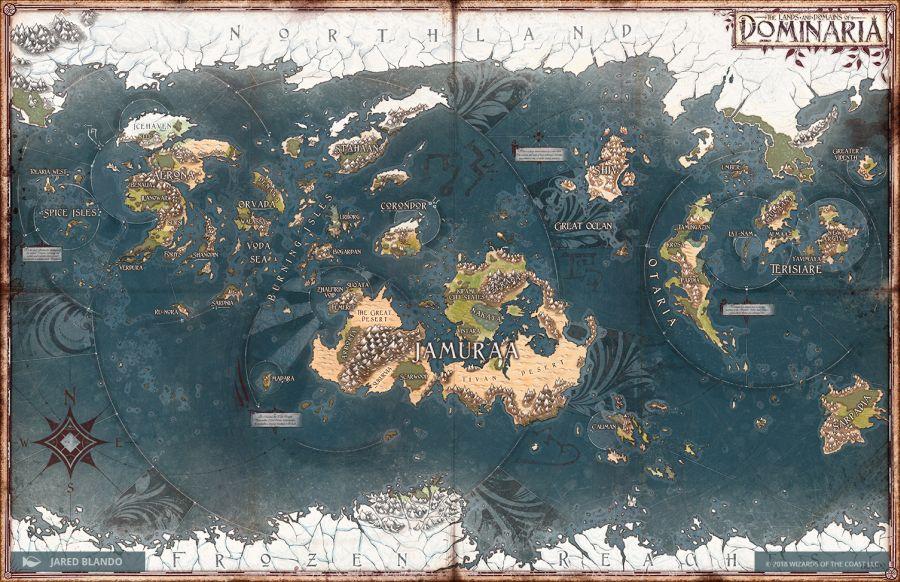 Dominaria Map | Art by Jared Blando