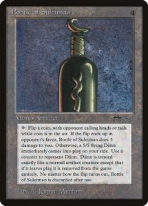 Bottle of Suleiman, mtg lore