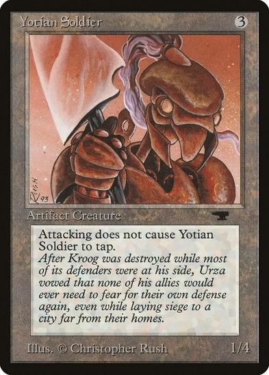 mroczne wieki magica, yotian soldier mtg
